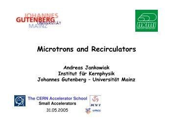 Microtrons and Recirculators
