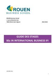 GUIDE DES STAGES BSc IN INTERNATIONAL BUSINESS ... - MyFirst