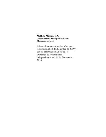 Informe MetLife 2009