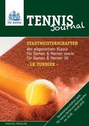 Tennis Journal 2010.indd - TSC Hansa Dortmund-Wellinghofen eV