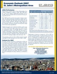 Economic Outlook 2007 St. John's Metropolitan Area - Finance