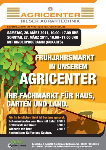 neuvorstellung. - Rieser Agrartechnik GmbH