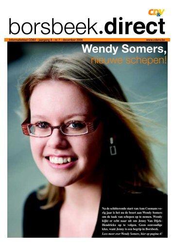 Wendy Somers, - CD&V Borsbeek