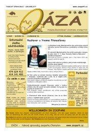 OÁZA č. 3/2009 - pdf ke stažení - Podkrušnohorský Zoopark Chomutov