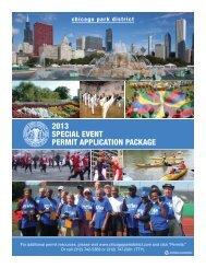 2013 special event permit application - Chicago Park District