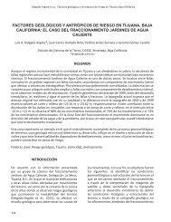 factores geológicos y antrópicos de riesgo en tijuana, baja california