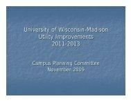 University of Wisconsin-Madison Utility Improvements 2011-2013