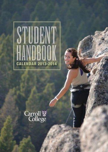 Student Handbook - Carroll College