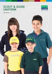 Download our Scout & Guidewear Sizing Information - David Luke