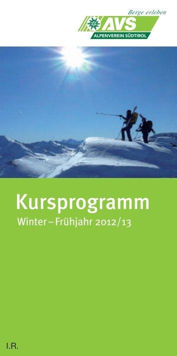 Kursprogramm - Alpenverein Südtirol