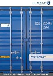 Containerlösungen von HAHN+KOLB - Werkzeug-Container