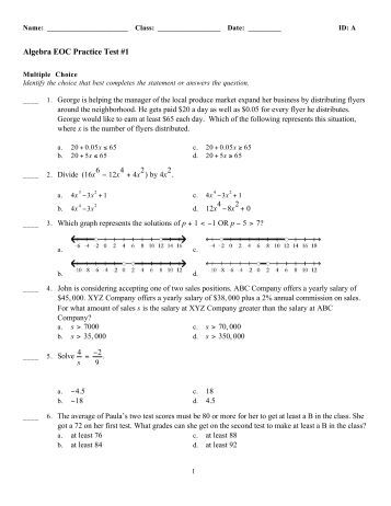 algebra essay test Read this essay on algebra test come browse our large digital warehouse of free sample essays get the knowledge you need in order to pass your classes and more.