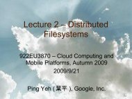 Distributed Filesystems - Cloud Computing and Mobile Platforms ...