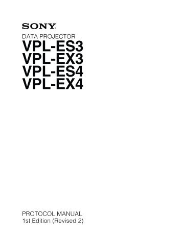vpl es3 ex3 protocol manual kavena rh yumpu com sony vpl-ex3 specs Sony SLR