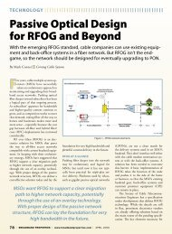 Passive Optical Design for RFOG and Beyond - Broadband Properties