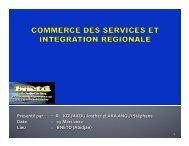 Intégration régionale et Commerce des services, Ministère ... - ILEAP