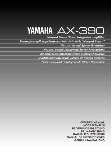 AX-390 Eng (01/11/96) - Yamaha