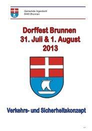 1.-August-Feier - Brunnen