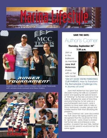 August 2013 Issue - MarinaCityClub.net