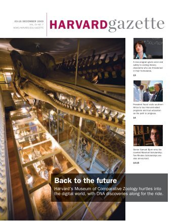 HARVARDgazette - Museum of Comparative Zoology - Harvard ...