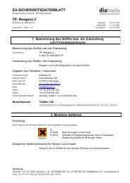 EU-SICHERHEITSDATENBLATT TP, Reagenz 2 - diatools AG