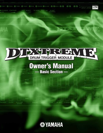Owner's Manual Owner's Manual - Yamaha