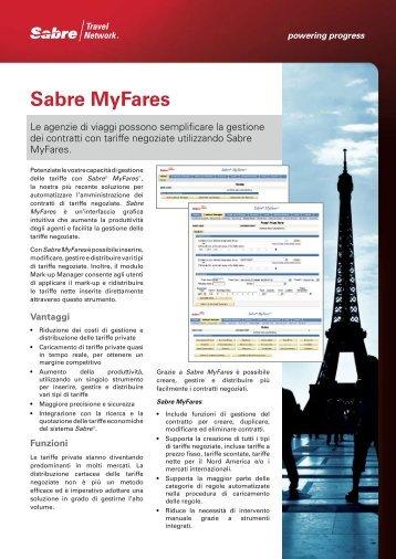 Sabre MyFares - Sabre Travel Network