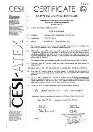CESI 03 ATEX 115 - Cortem Group
