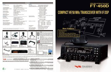 General Rx Frequency Range: Tx Frequency Ranges ... - Yaesu.com