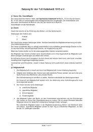 Satzung für den TuS Kaltehardt 1915 e.V.