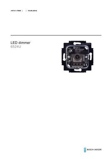 led dimmer led dimmer 6523 u busch jaeger katalog. Black Bedroom Furniture Sets. Home Design Ideas
