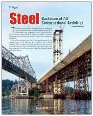 Steel Backbone of All Constructional Activities - Steelworld