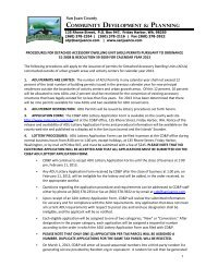 2013 ADU Information and Lottery Application ... - San Juan County