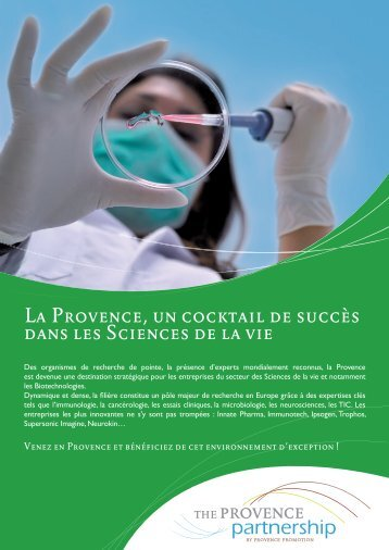 La Provence, un cocktail de succès dans les Sciences de la vie