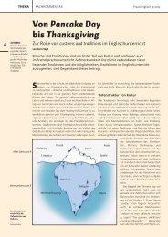Von Pancake Day bis Thanksgiving - The English Academy