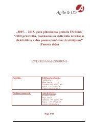 """""""2007. – 2013. gada plānošanas perioda ES fondu VSID ... - ES fondi"""
