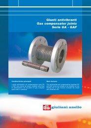 Giunti antivibranti - Gas compensator joints Serie ... - Watts Industries