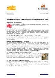 Otázky a odpovědi o antimikrobiálních vlastnostech mědi - MedPortal