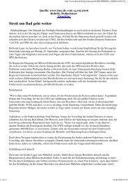 Streit um Bad geht weiter - UWG Reinhardshagen