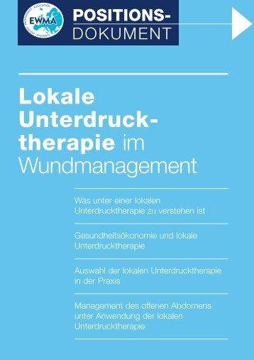 Gesundheitsökonomie und lokale Unterdrucktherapie - Wounds ...
