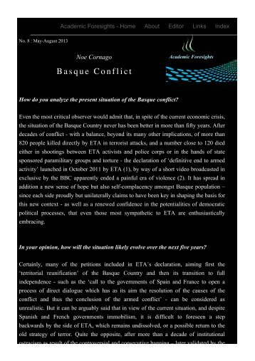 Basque Conflict - Academic Foresights