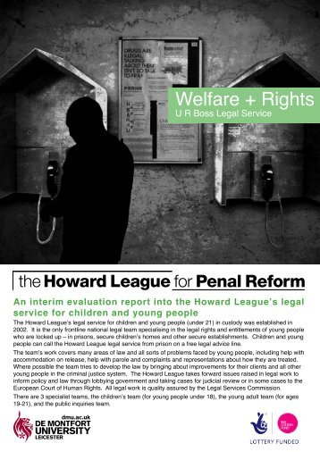 Welfare + Rights - The Howard League for Penal Reform