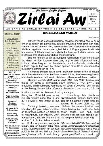 January 2011 - Pune Mizo Website