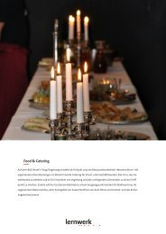 Factsheet Food & Catering - Lernwerk