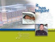 REPORT TO DONORS 2 0 0 9 - Markham Stouffville  Hospital