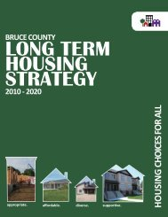 long term housing strategy - Bruce County