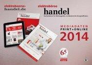 MEDIADATEN PRINT+ONLINE - elektroboerse-handel.de