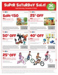 50% OFF 40% OFF 25% OFF SaVe $150 25% OFF - Toys R Us