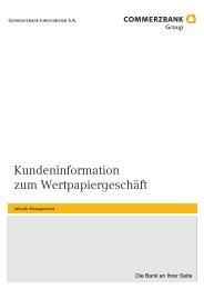 Kundeninformation zum Wertpapiergeschäft - Commerzbank ...