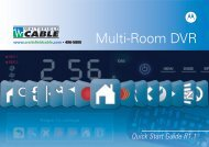 Multi-Room DVR User Guide - Waitsfield Cable